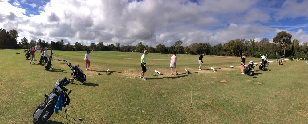 ROWGC Members Enjoying The Practice Facilities At Penina