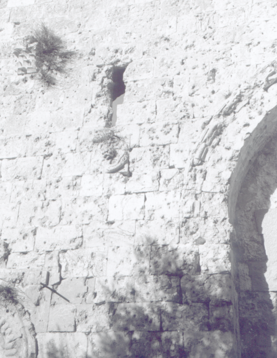 Zion Gate, Jerusalem » bears the marks of bullets from numerous battles