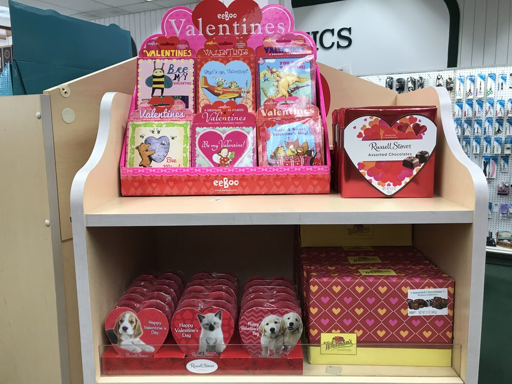 Love Is In The Air - Don't wait until the last minute to get your sweetheart what they deserve! Grieb's has chocolates, cards, and more for Valentine's Day!