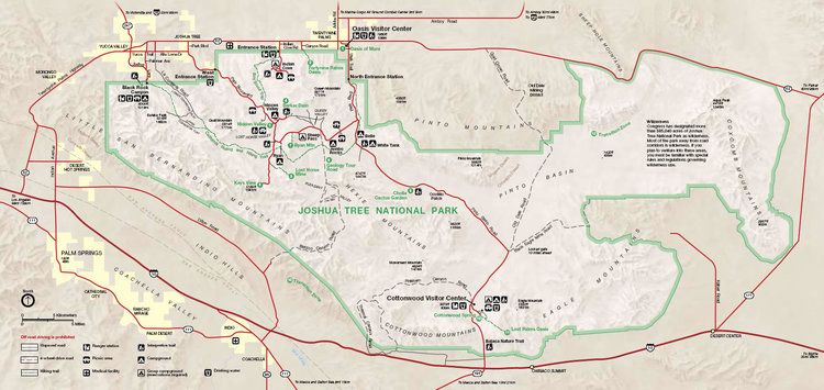 Joshua Tree National Park Map Top 10 Hikes in Joshua Tree — Joshua Tree Visitors Guide Joshua Tree National Park Map