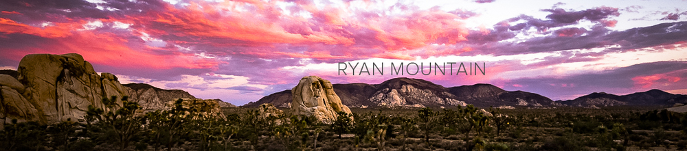 Ryan MOUNTAIN HAS A COMMANDING 360 degree VIEW OF THE PARK