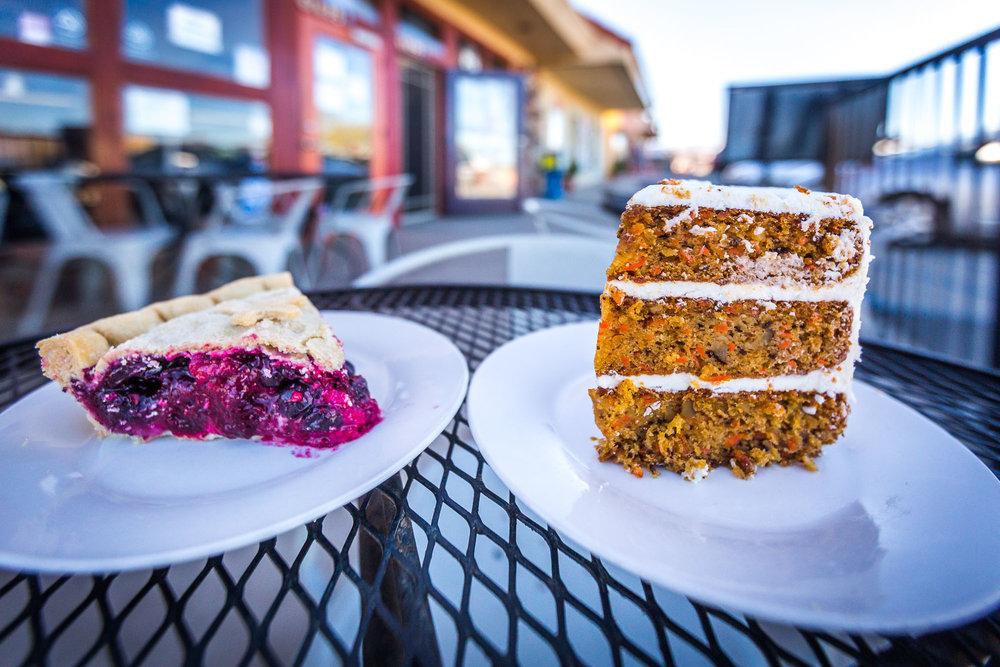 Vegan Mixed Berry Pie and Vegan Carrot Cake!! YUM!!!!!