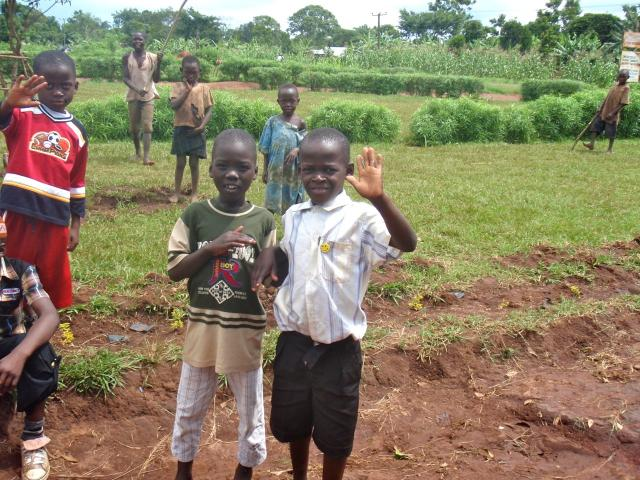 Some of the village children