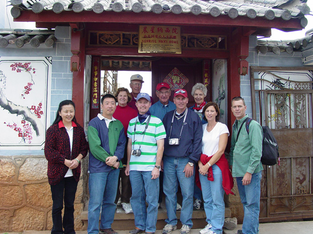 Group at orphanage in LiJiang