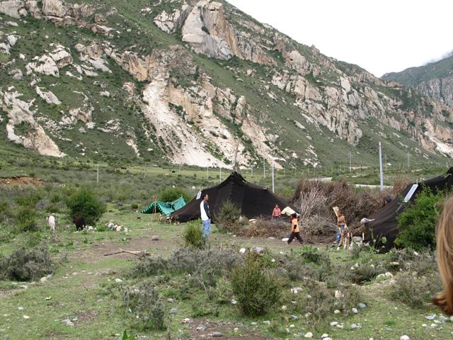 Nomadic yak herders home (tent)