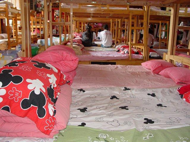Girl's dorm at Lijiang orphanage