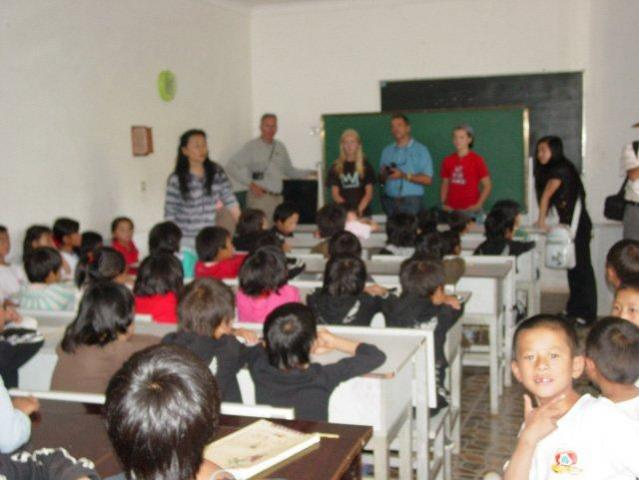 Students in class at Lijiang orphanage