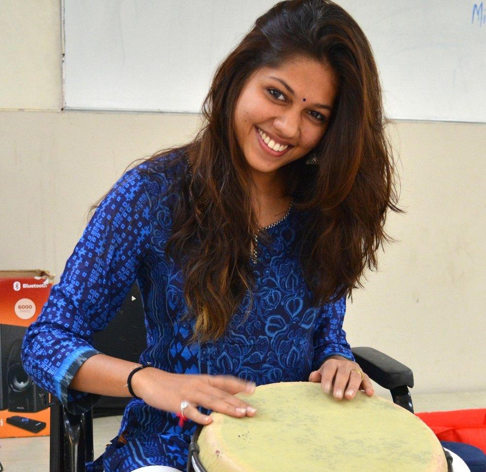 INDIA 2017 - exploring a djembe, sancheti institute