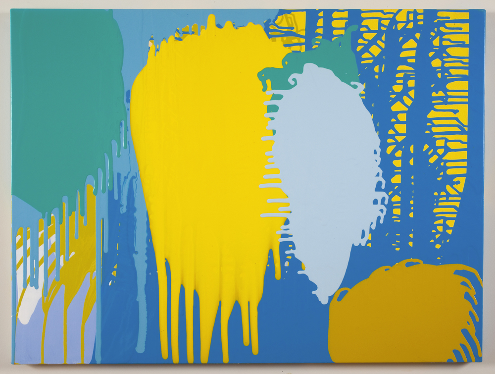 Splat, 2009 acrylic on canvas 36 inches x 40 inches