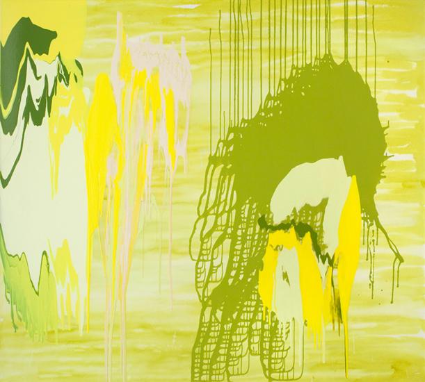 "undercurrent 2009 acrylic on canvas 72"" x 80 """