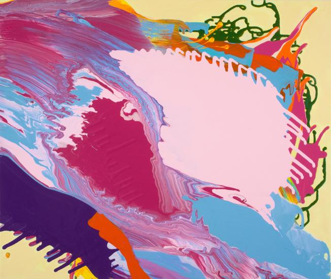 "upwelling 2010 acrylic on canvas 27 "" x 32 """