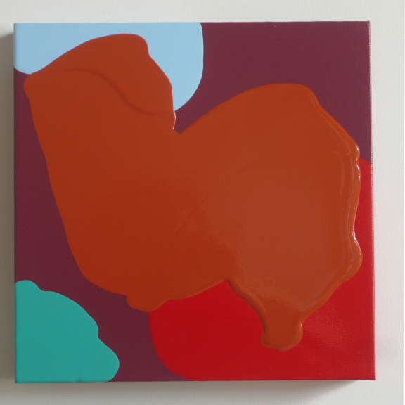"Untitled, 2012 acrylic on canvas 12"" x 12"""