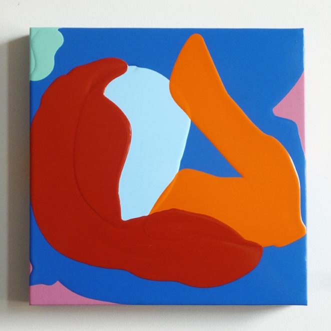 "Tulip, 2014 acrylic on canvas 12"" x 12"""