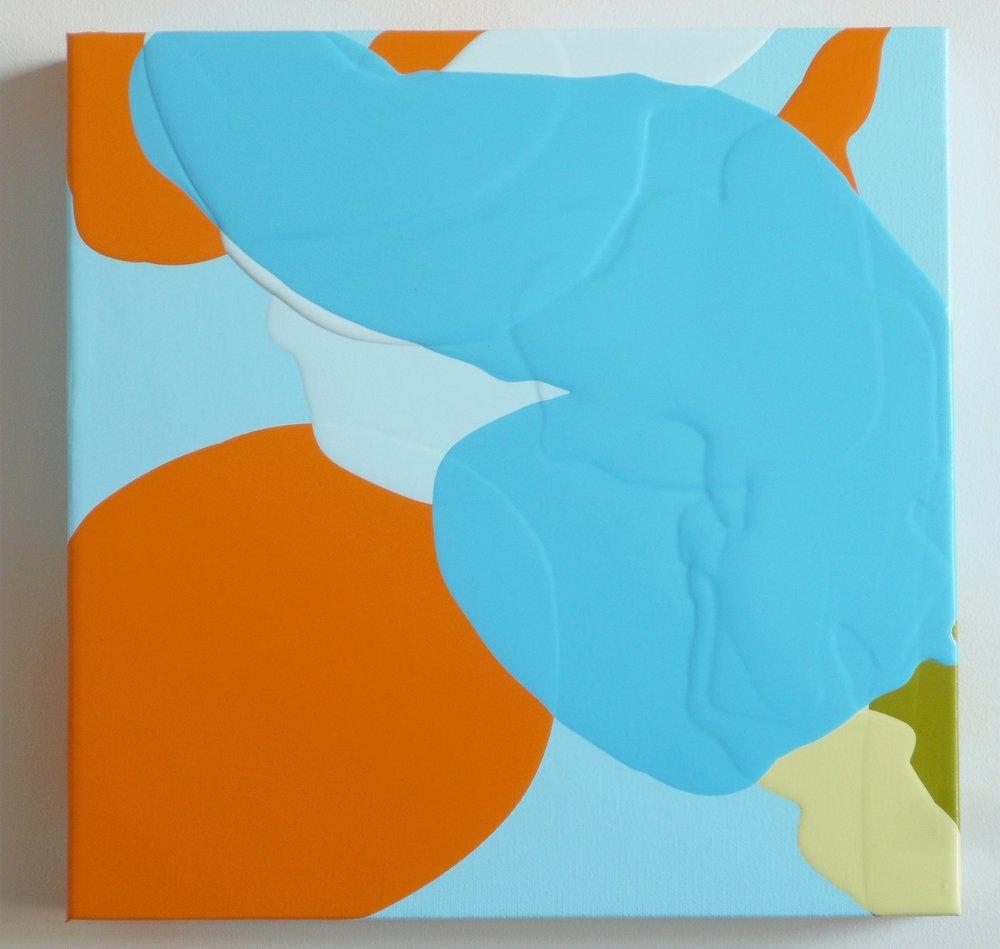 """Bounce, 2013 acrylic on canvas 12"""" x 12"""""""