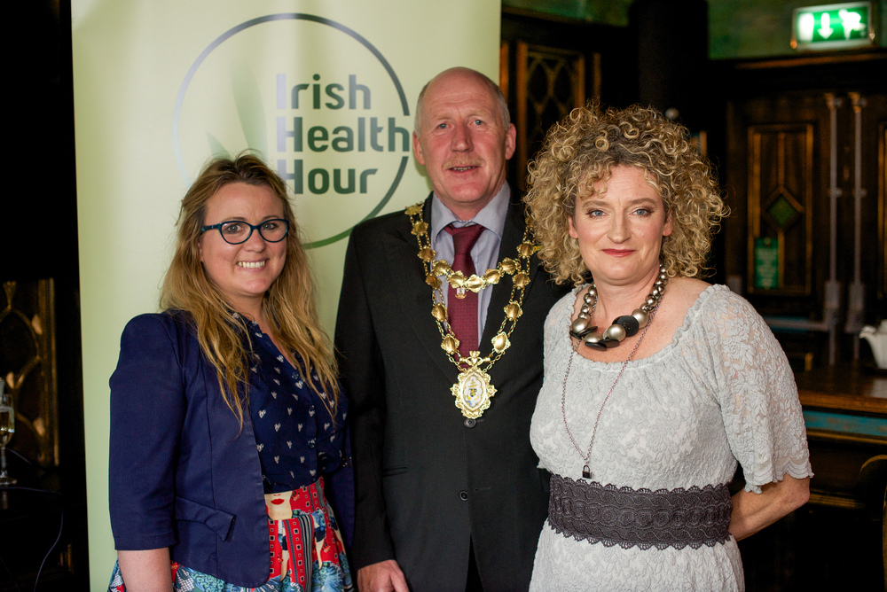 Joanne Sweeney Bourke, Noel Larkin Mayor of Galway and Dolores Andrew-Gavin Owner of IrishHealthHour