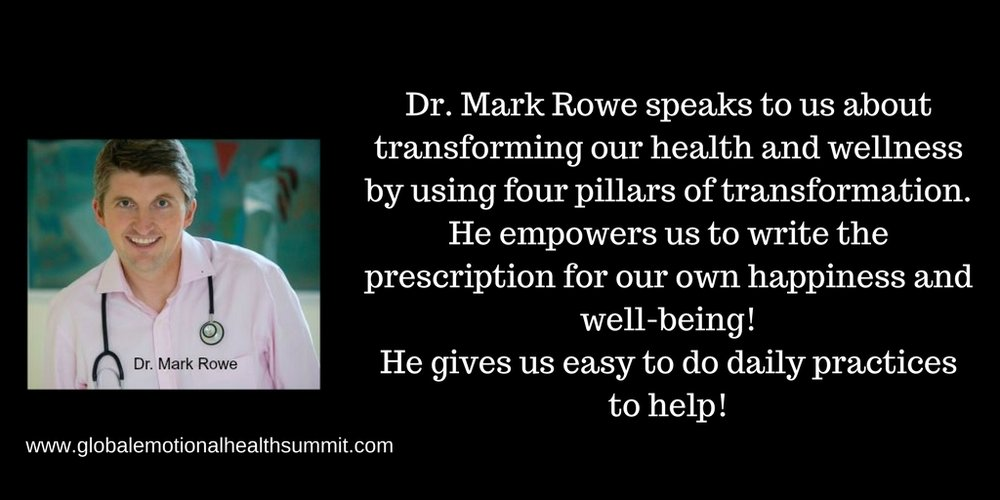 Dr. Mark Rowe speaks to us about transforming our health and wellness by using four pillars of transformation. He empowers us to write the prescription for our own happiness and well-being!He gives us easy to do dail.jpg