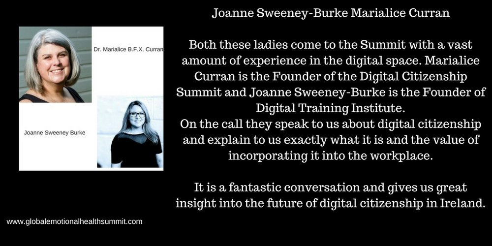 Joanne Sweeney-Burke Marialice CurranBoth these ladies come to the Summit with a vast amount of experience in the digital space. Marialice Curran is the Founder of the Digital Citizenship Summit and Joanne Sweeney-Bu.jpg