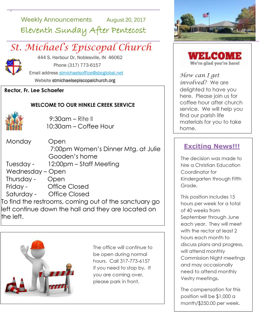 01 Announcements - August 20 - St. Michael's Episcopal Church Noblesville.jpg