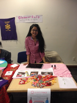 GG Chapter's Recruitment Table at Hunter College