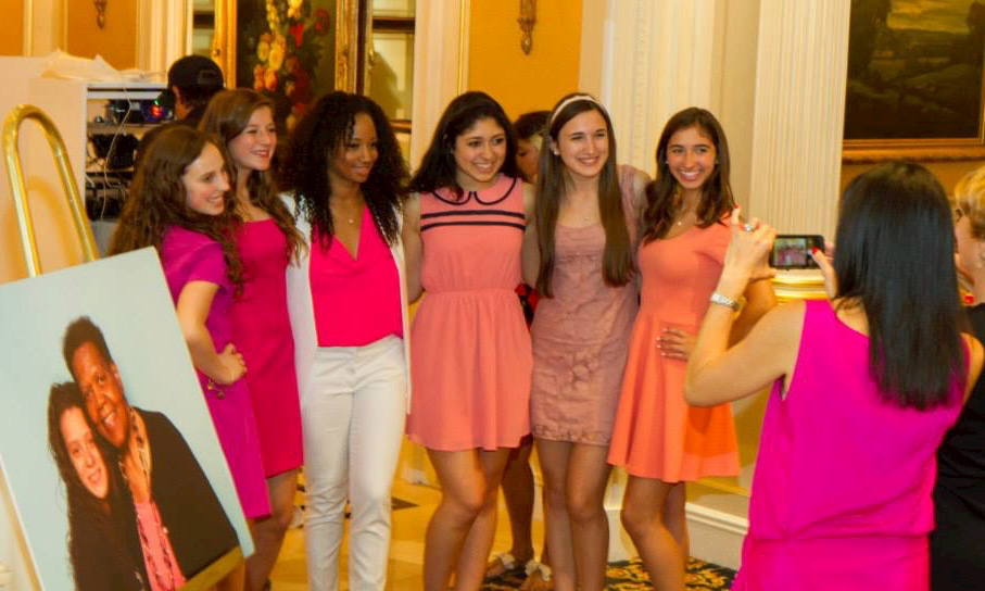 Pictured: Northport Chapter with 2014 Inspiration Glammy winner Monique Coleman.