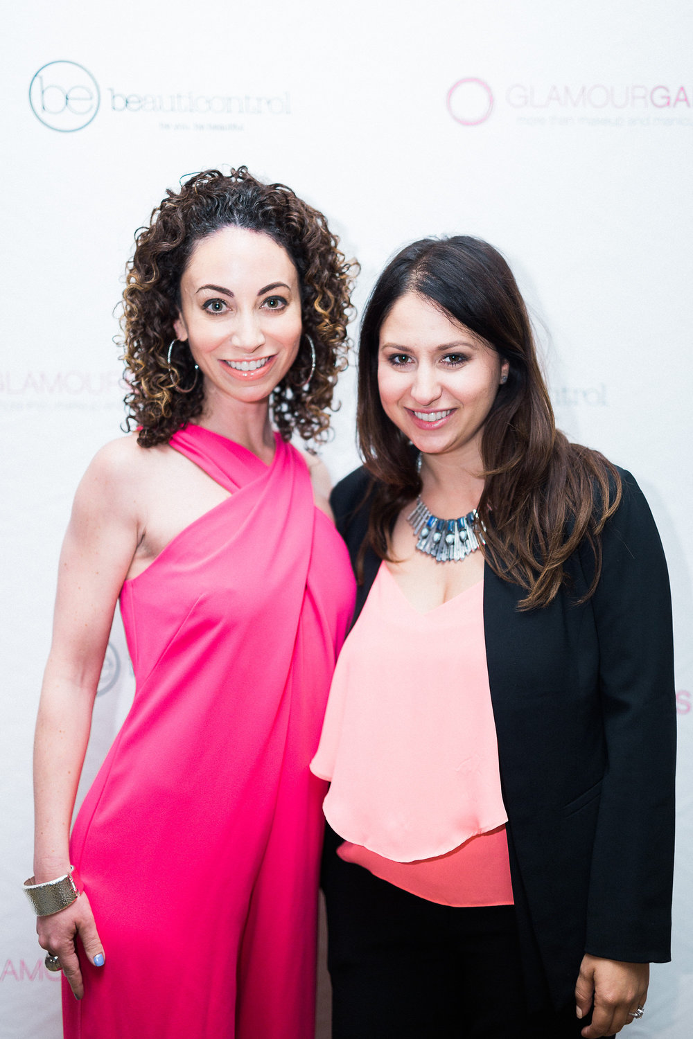 Allegra Cohen (left), co-chair of the Glammys, with Lauren Berger, this year's Inspiration Glammy Winner.