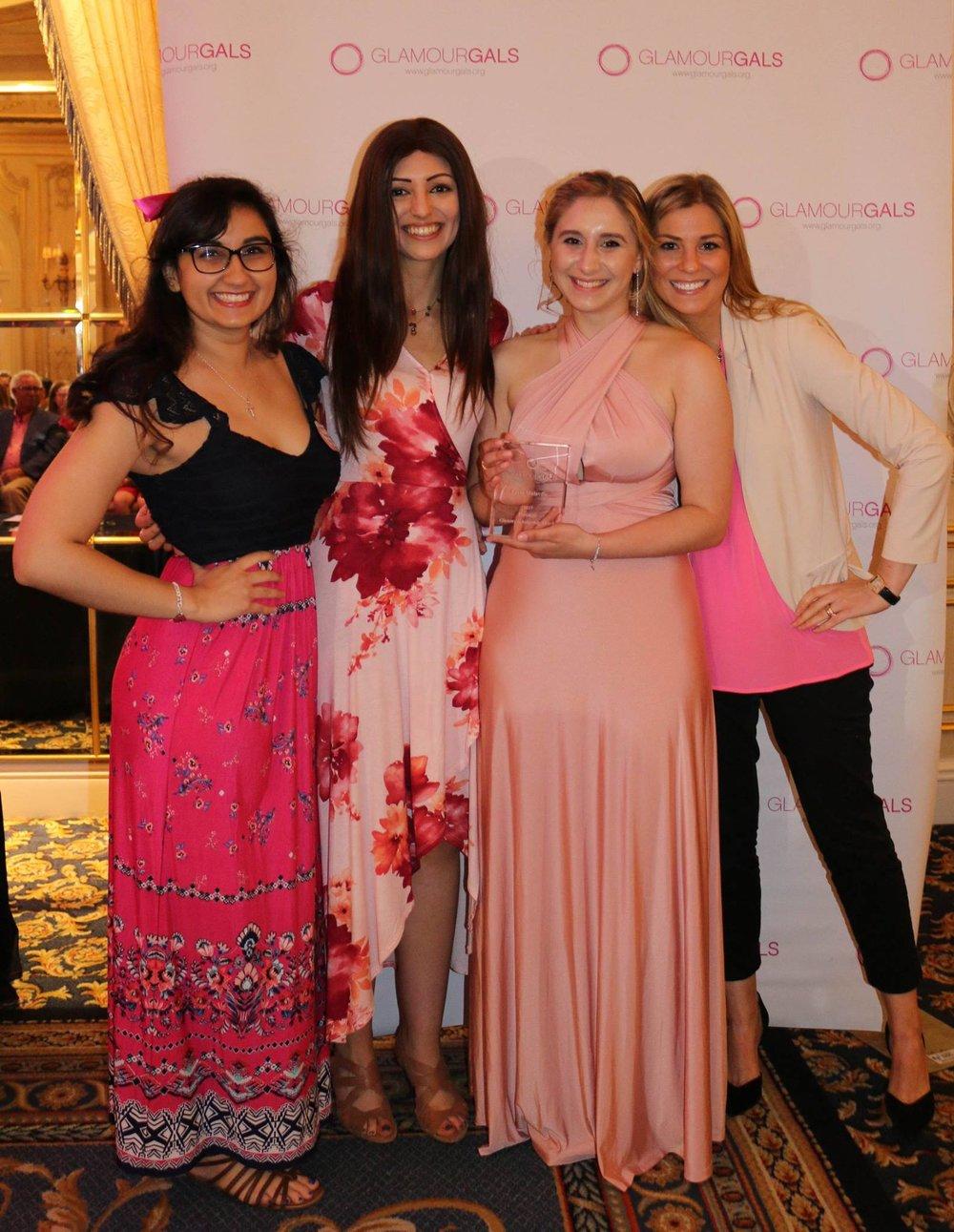 Leyla at the 2017 Glammy Scholarship Awards