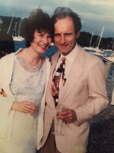 Caroline and her husband, Robert Benes, at a wedding about 20 years ago.