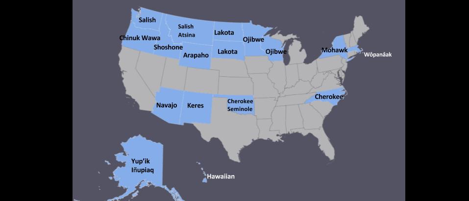 Language Map National Coalition of Native American Language