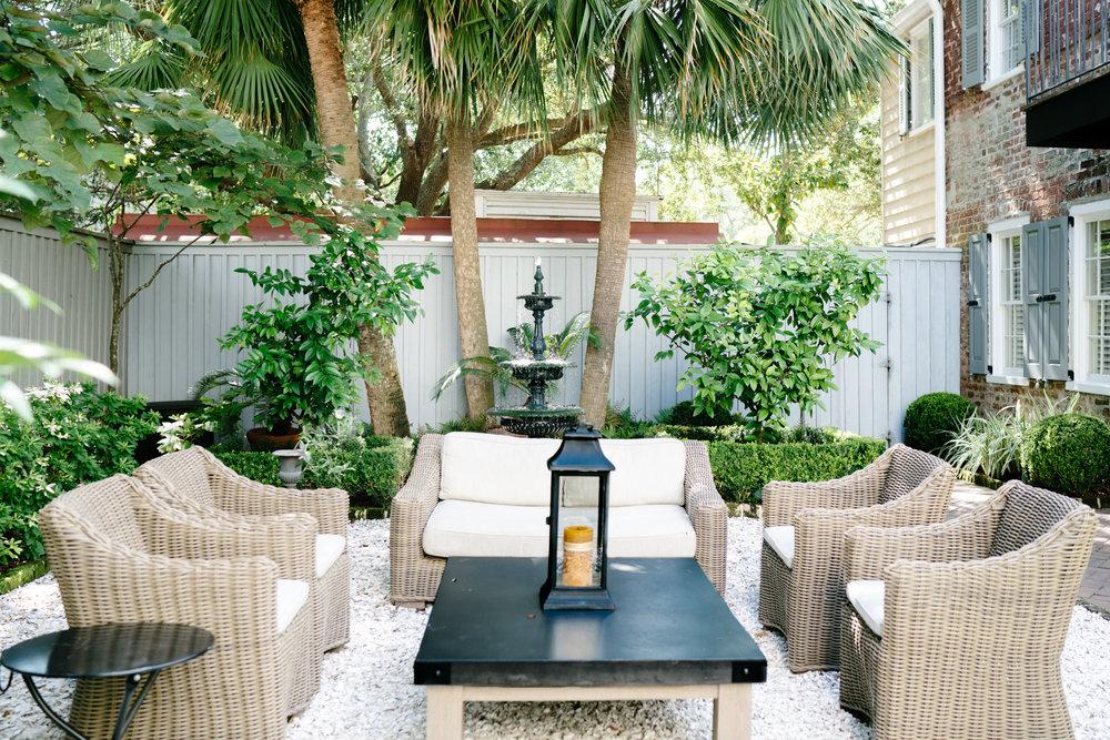 Charleston courtyard   Never Settle Travel