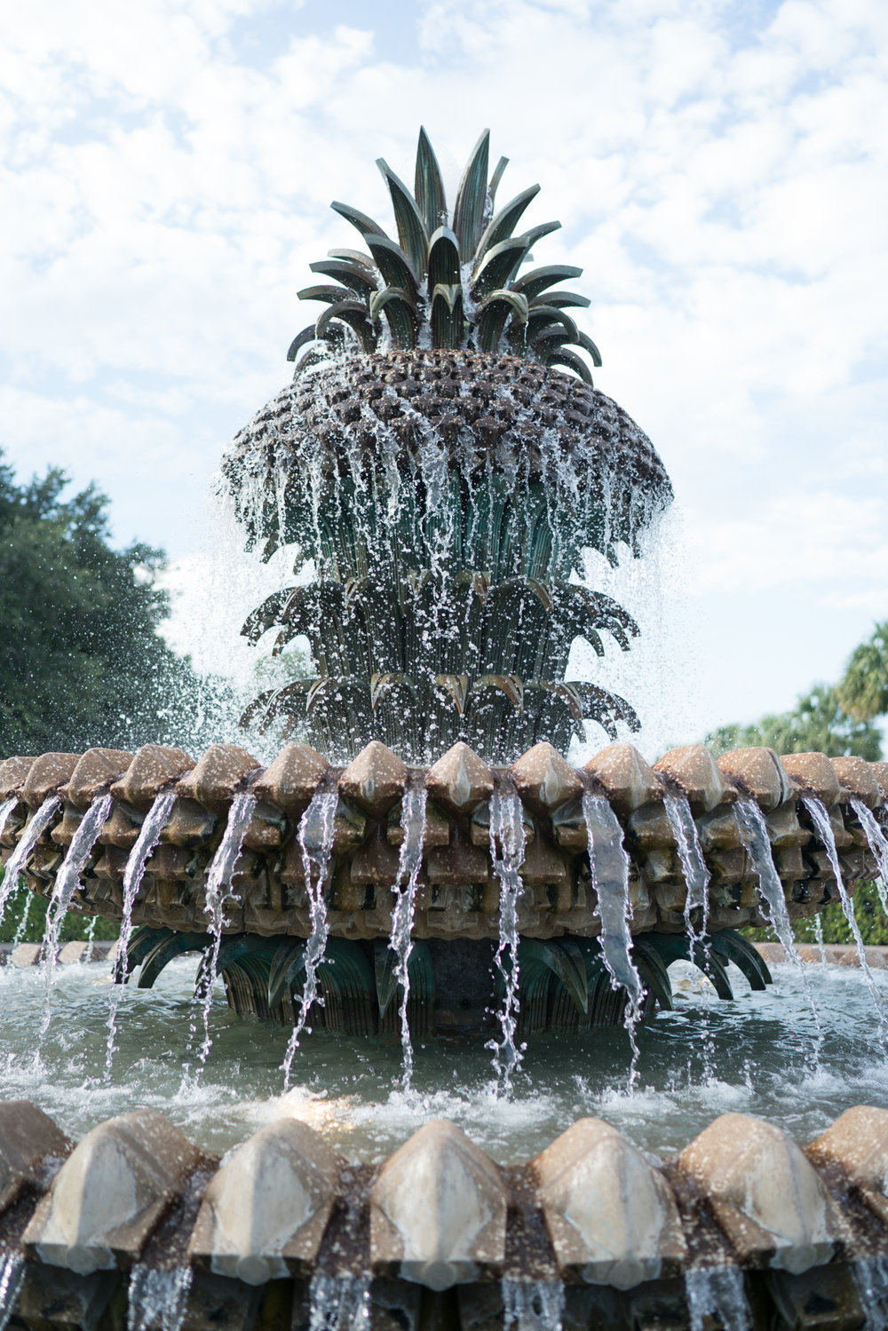 Charleston Pineapple Fountain | Never Settle Travel