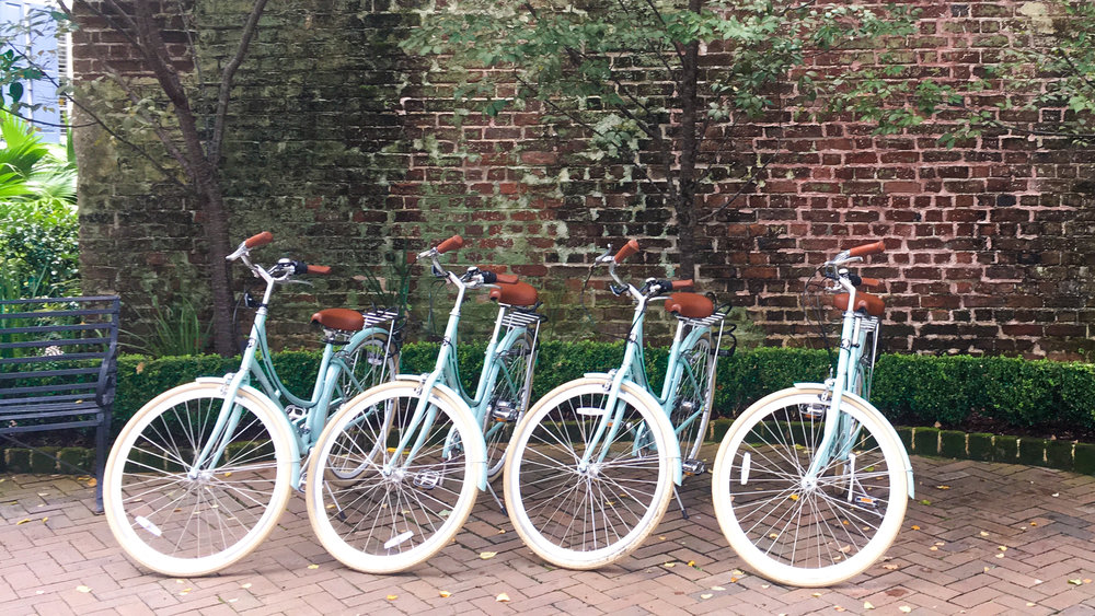 The cutest bikes in Charleston at Zero George