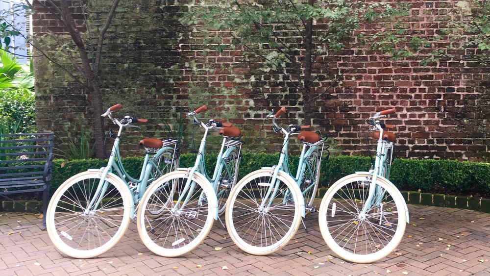 The cutest bikes in Charleston at Zero George