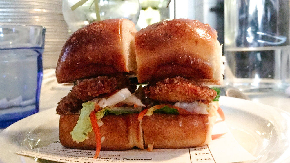 fried oyster sliders from The Ordinary in Charleston