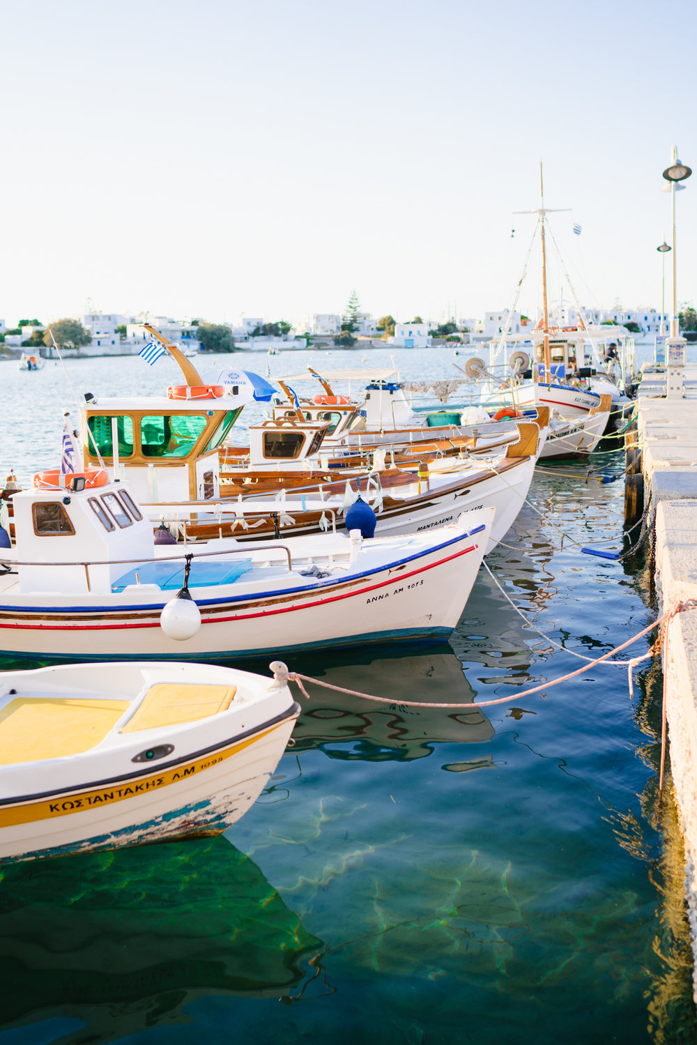 Fishing boats in Milos