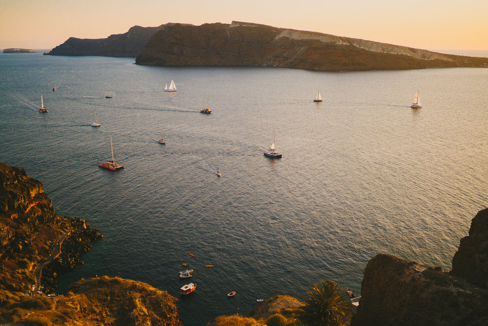 Sunset view Santorini