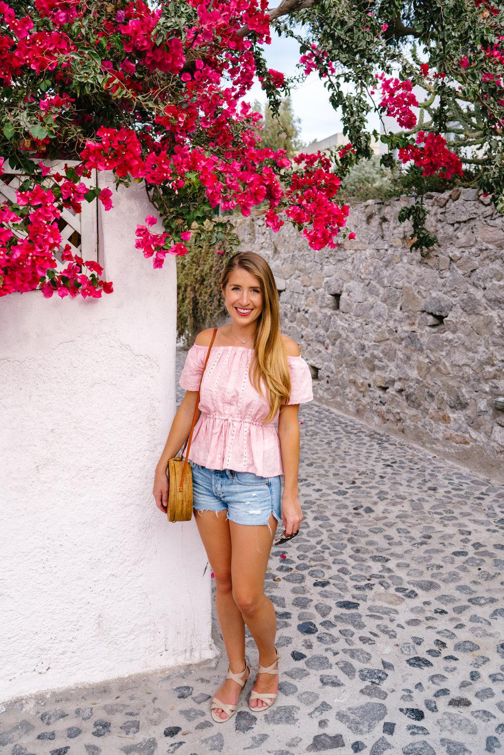 pink bougainvillea in Greece