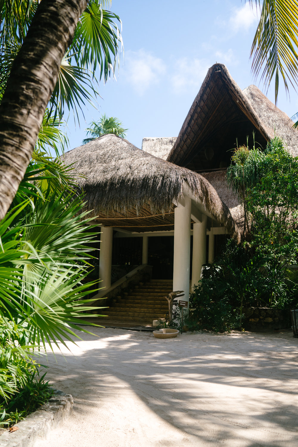 The Beach Tulum front entrance