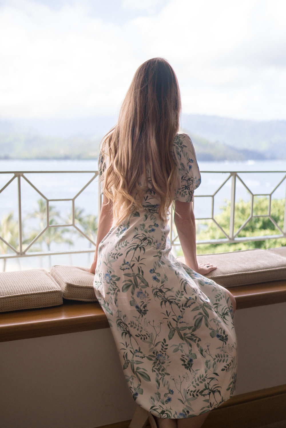 Gal Meets Glam Dress and view from St Regis Princeville Kauai