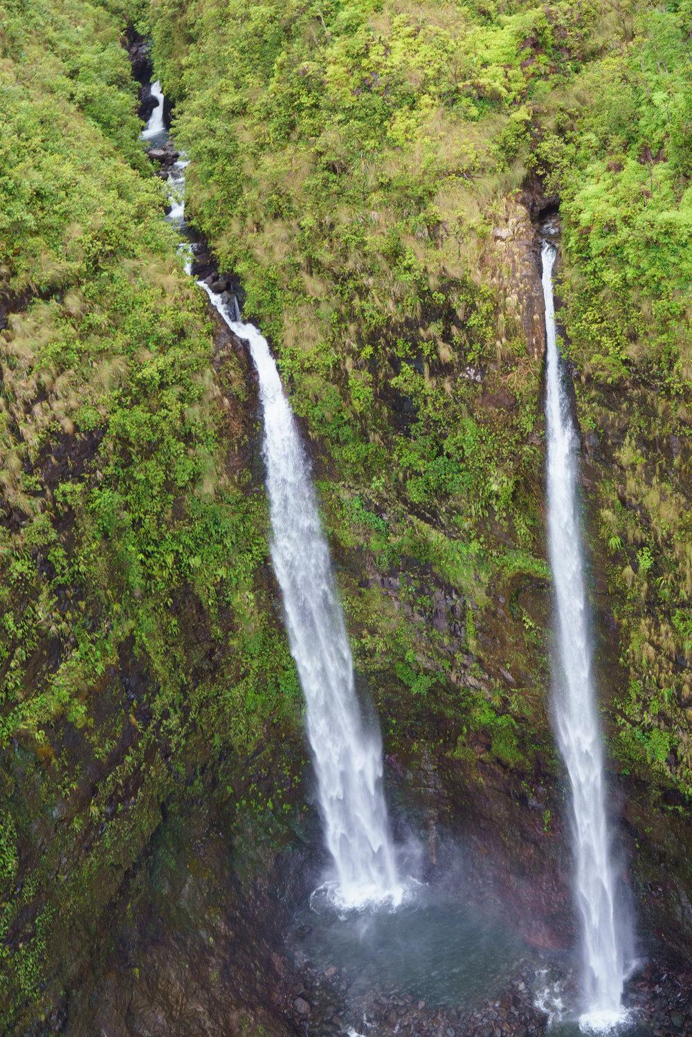No shortage of waterfalls in Kauai