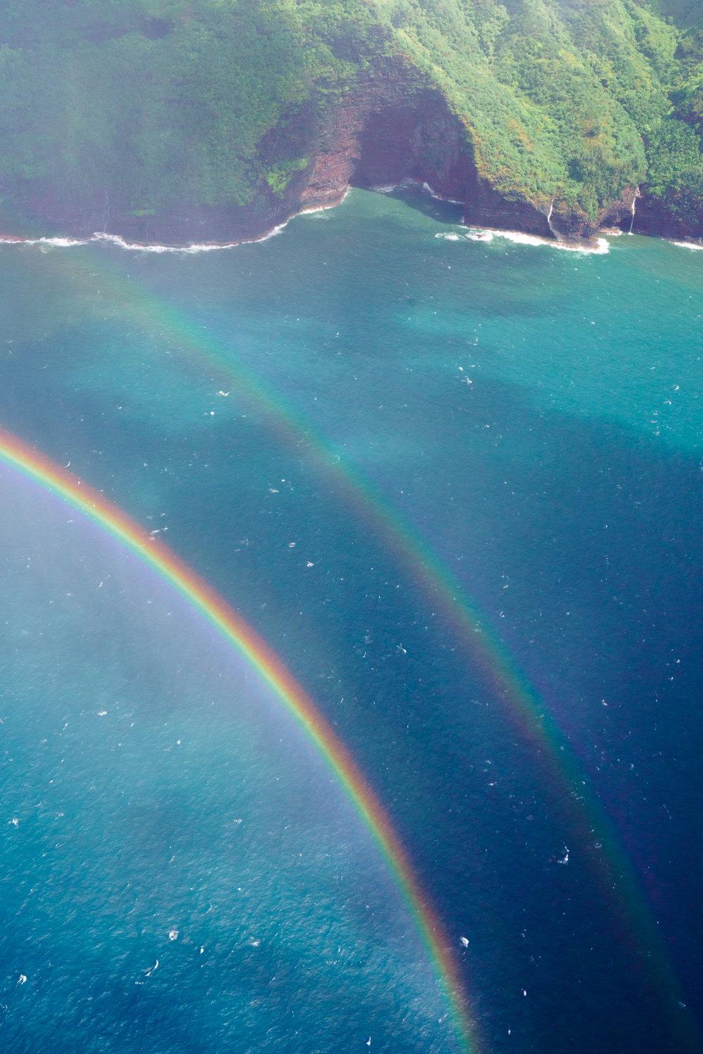 Double Rainbow on the Na Pali Coast, Kauai | Never Settle Travel