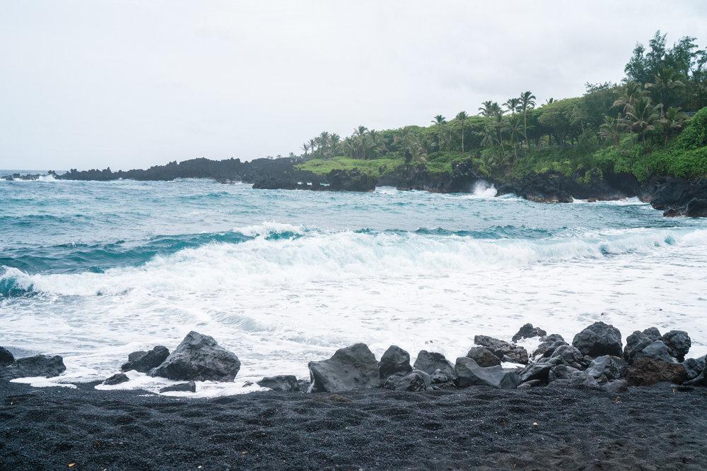 Black sand beach in Maui | Never Settle Travel