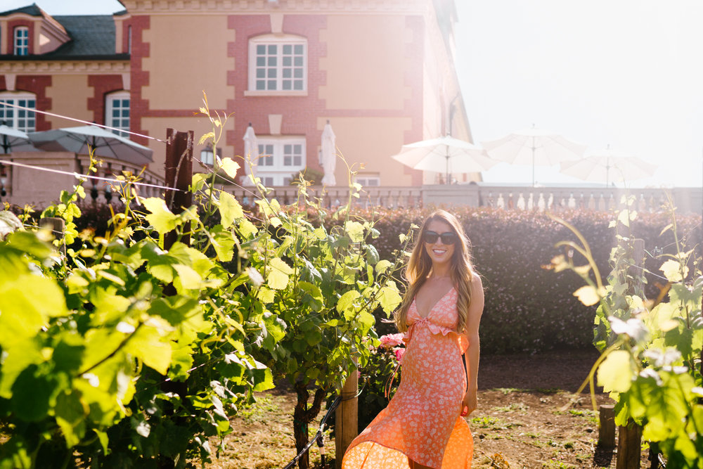 The best maxi dress for wine tasting in Napa Valley