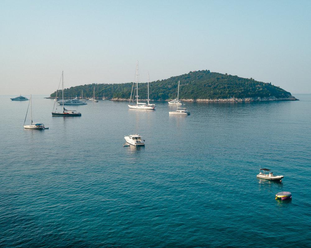 Lokrum Island across from Dubrovnik, Croatia