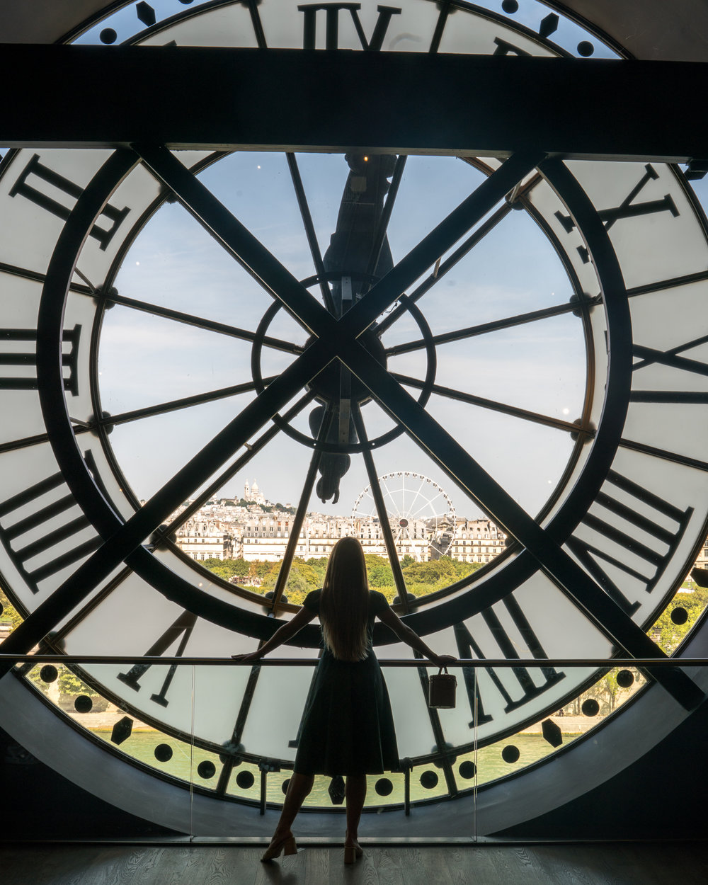 The clock in the Musee D'Orsay in Paris