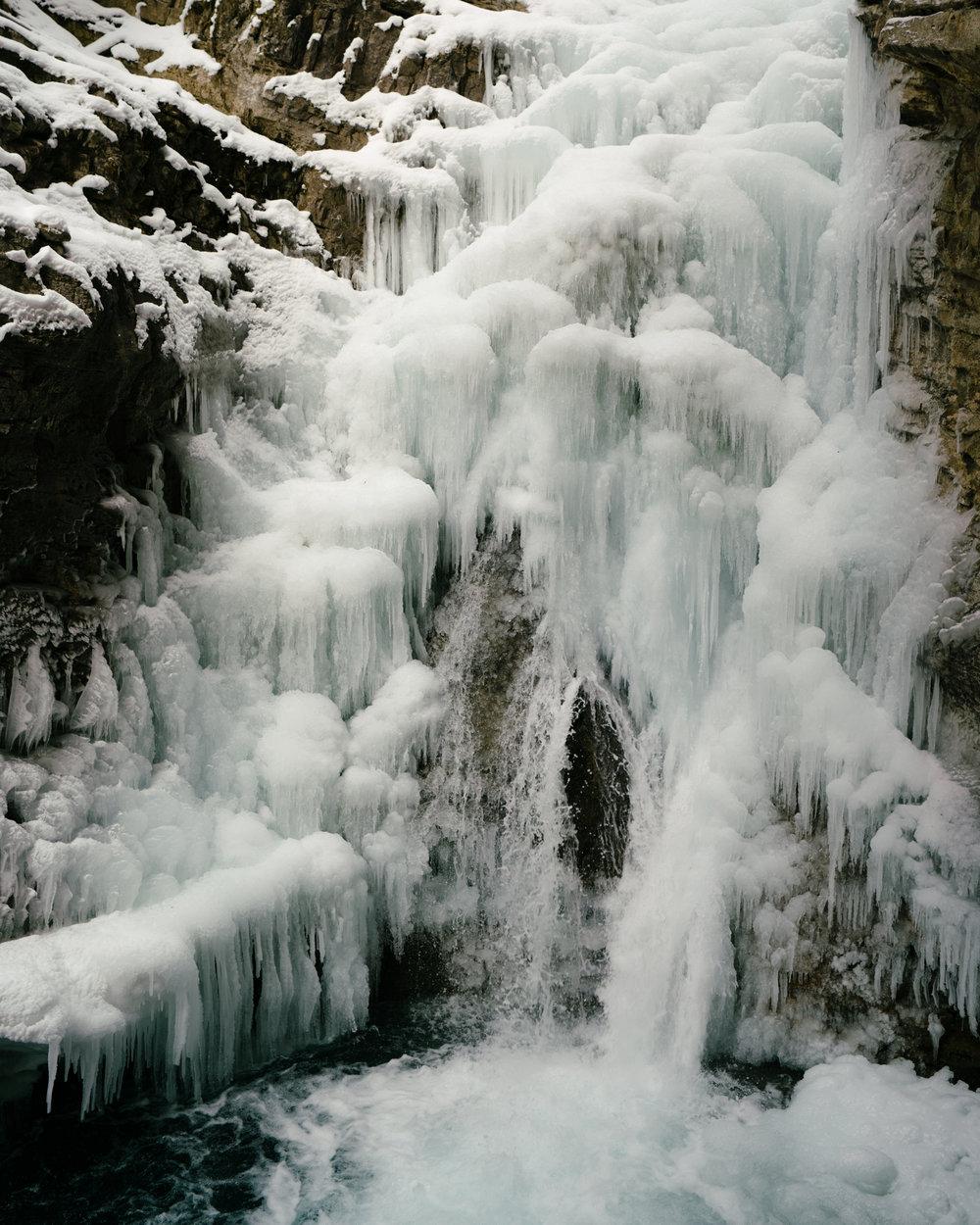 Frozen Waterfall on the Johnston Canyon Icewalk
