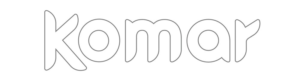 Komar Custom typography.