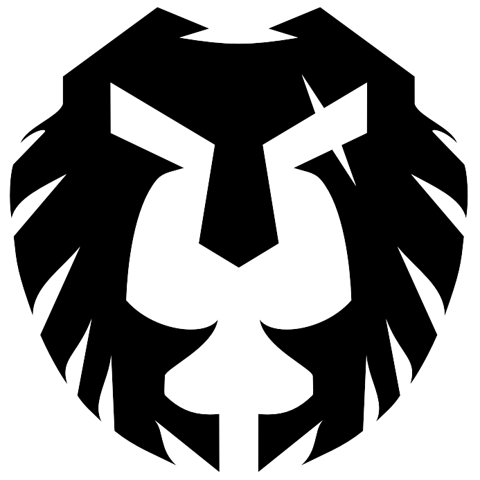 Final logo Lion_Spartan black trans     backround 8_17.png