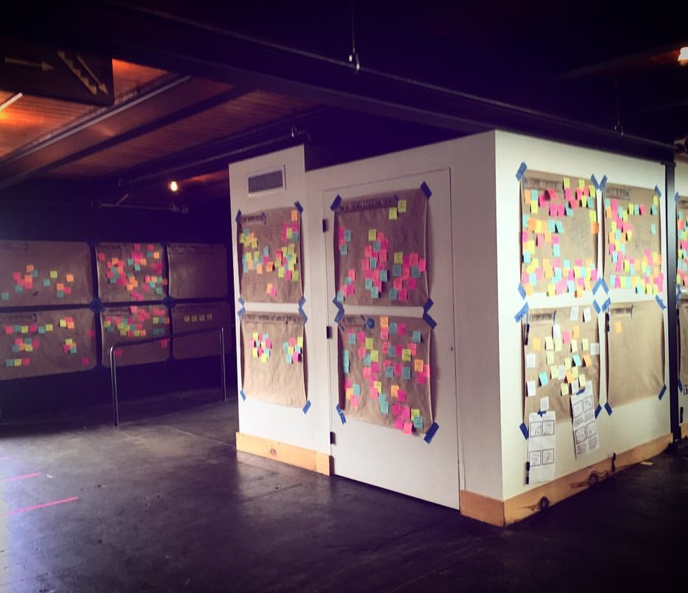 The Hemmer Design Experience Wall in all of its Post-It glory! | Photo Cred: Hemmer Design