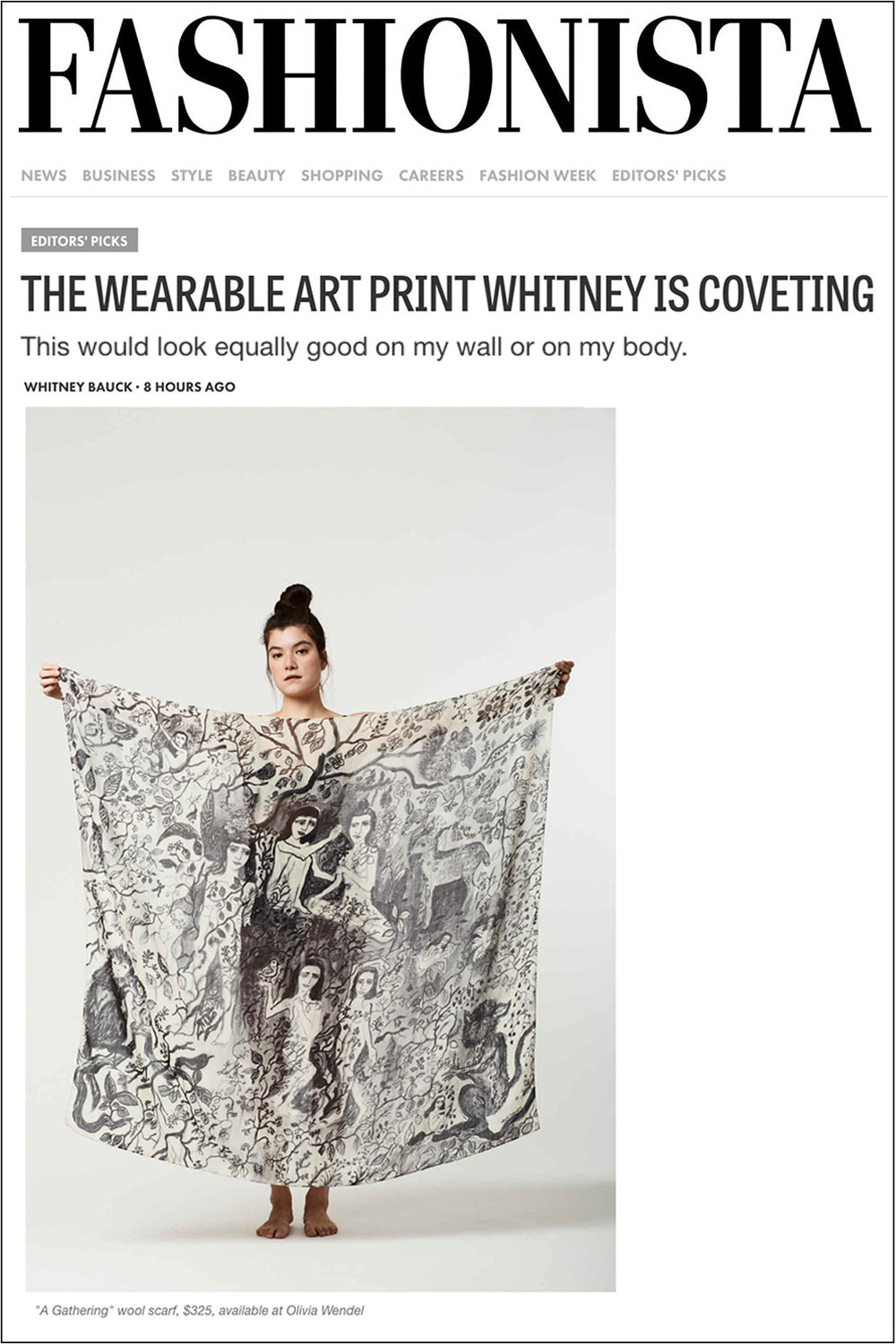 Fashionista: The Wearable Art Print Whitney is Coveting   January 18, 2017