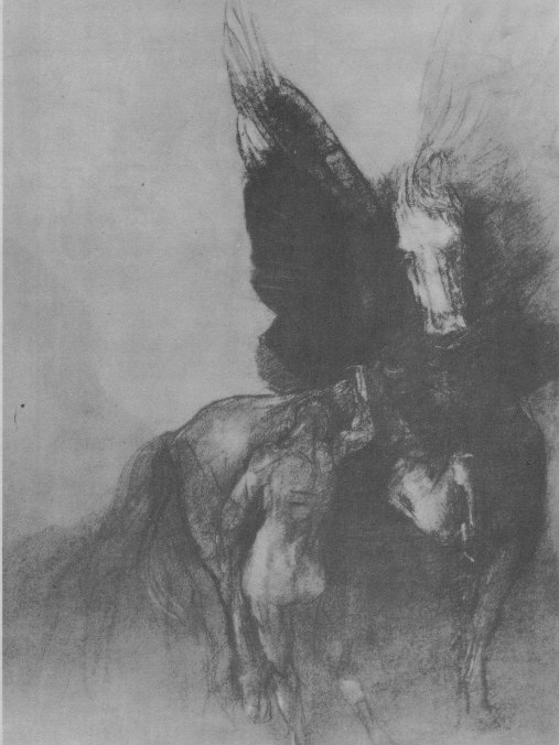 Pegasus and Bellephon, Odilon Redon